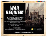 Benjamin Britten War Requiem Concert Flyer by CELIA