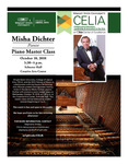 Misha Dichter - Pianist: Piano Master Class - Flyer by CELIA