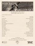 Voices of World War I Program by CELIA