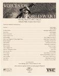 Voices of World War I Program