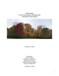 Proceedings of the First Annual Symposium on the Wright State Woods by College of Science and Mathematics and College of Liberal Arts