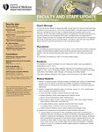 Faculty and Staff Updates, Department of Surgery, February 2013