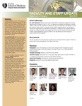 Faculty and Staff Updates, Department of Surgery, April 2013