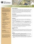 Faculty and Staff Updates, Department of Surgery, May 2013