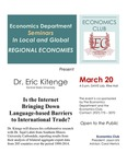 Is the Internet Bringing Down Language-based Barriers to International Trade? by Erick Kitenge