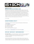 ISSCM Newsletter, Volume 6, September 1, 2015 by Raj Soin College of Business, Wright State University