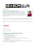 ISSCM Newsletter, Volume 10, February 15, 2016 by Raj Soin College of Business, Wright State University