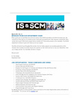 ISSCM Newsletter, Volume 12, May 20, 2016 by Raj Soin College of Business, Wright State University