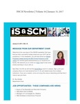 ISSCM Newsletter, Volume 16, January 31, 2017 by Raj Soin College of Business, Wright State University