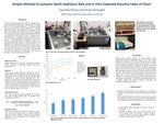 Simpler Method to Compare Starch Hydrolysis Rate and In Vitro Expected Glycemic Index of Flours by Courtney Simons and Charles Ciampaglio