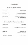 Mad River Vocal Arts Festival 2019-10-14 by Collegiate Chorale, Mad River Festival Honor Choir, and Hank Dahlman