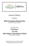 Chamber Orchestra, 2019-11-26 by Jackson Leung, James Tipps, Wright State University Chamber Orchestra, and Cappella of the Kettering Children's Choirs