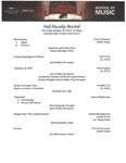 Fall Faculty Recital, 2019-10-24