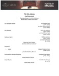 Phi Mu Alpha Fall Recital - 2019-10-31