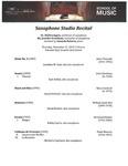 Saxophone Studio Recital - 2019-11-21 by Shelley M. Jagow, Jennifer Grantham, and Wright State University Saxophone Studio