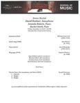 Senior Recital - David Kestner, Saxophone - 2019-12-06