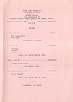 School of Music Recital Programs from 1970-1971