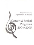 School of Music Recital Programs from 2004 to 2005