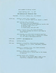 Ohio Academy of Medical History Annual Meeting, April 15, 1967 the Granville Inn, Granville, Ohio