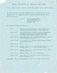 Ohio Academy of Medical History Annual Meeting Program, May 15, 1979 Columbus, Ohio