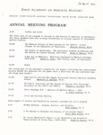 Ohio Academy of Medical History Annual Meeting Program, April 26, 1980