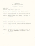 Ohio Academy of Medical History Annual Meeting Program May 9, 1981 Zanesville, Ohio
