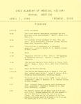 Ohio Academy of Medical History Annual Meeting Program, April 7, 1984 Fremont, Ohio