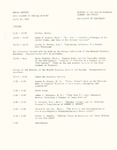 Ohio Academy of Medical History Annual Meeting Program April 20, 1985