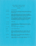 Ohio Academy of Medical History Annual Meeting Program, March 11, 1989