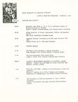 Ohio Academy of Medical History Annual Meeting Program, March 16, 1991