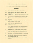 Ohio Academy of Medical History Annual Meeting Program, March 26, 1994