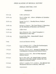 Ohio Academy of Medical History Annual Meeting Program, 1995