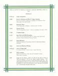 Ohio Academy of Medical History Annual Meeting Program, April 13, 2002