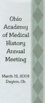 Ohio Academy of Medical History Annual Meeting Program, March 15, 2003