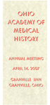 Ohio Academy of Medical History Annual Meeting Program, April 14, 2007