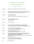 Ohio Academy of Medical History Annual Meeting Program, April 16, 2016
