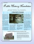 Public History Newsletter Fall 2012