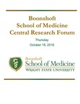 Boonshoft School of Medicine Central Research Forum Program - 2018
