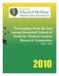 Proceedings from the Second Annual Boonshoft School of Medicine Medical Student Research Symposium by Wright State University Boonshoft School of Medicine Office of Research Affairs