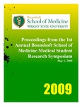 Proceedings from the 1st Annual Boonshoft School of Medicine Medical Student Research Symposium by Wright State University Boonshoft School of Medicine Office of Research Affairs