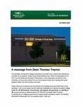 Raj Soin College of Business Newsletter - October 2020 by Raj Soin College of Business, Wright State University