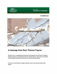 Raj Soin College of Business Newsletter - December 2020 by Raj Soin College of Business, Wright State University