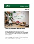 Raj Soin College of Business Newsletter - January 2021 by Raj Soin College of Business, Wright State University