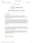 Raj Soin College of Business Monthly Update - April 2020 by Raj Soin College of Business, Wright State University