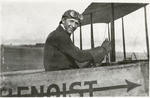Edward Korn at the Controls of a Benoist Type XII, circa 1912