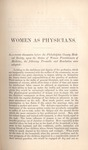 Preamble and Resolution of the Philadelphia County Medical Society upon the Status of Women Physicians, with a Reply by a Woman