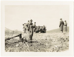 322nd Field Artillery in Field with Cannon