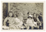 Children Seated on a Bench
