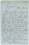 Letter, 1857 December 2, Oscar D. Ladley to Sisters [Mary and Alice Ladley]