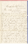 Letter, 1861 December 27, Oscar D. Ladley to Mother and Sisters [Catherine, Mary, and Alice Ladley]